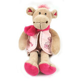Cuddly Soft Toy Carly  Camel With Pink Shorts And Waistcoa,  Size 28cm