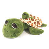 Cute Big-Eyed  Turtle Soft Toy With Miniature Baby (With Squeaker,  Size 26cm