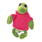 Cuddly Soft Toy Turtle With Trendy Pink Hoodi,  Size 20cm