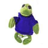 Cuddly Soft Toy Turtle With Trendy Blue Hoodi,  Size 20cm
