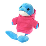 Cuddly Soft Toy Dolphin With Trendy Pink Hoodi,  Size 20cm