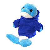 Cuddly Soft Toy Dolphin With Trendy Blue Hoodi,  Size 20cm