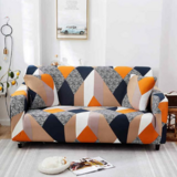 DEALS FOR LESS - 1 Seater Sofa Cover, Stretchable Couch Slipcove Rhombs Design.