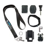 GoPro Wi-Fi Remote Accessory Kit [Includes a wrist/Pole Strap, Lanyard, two Remote Keys with Key Rings, Remote Cradle, Quick Release Buckle, Curved Adhesive Mount, Flat Adhesive Mount] Black