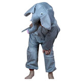 Brain Giggles Animal Jumpsuit Elephant  Costume For Kids Party - Meduim