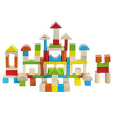 Brain Giggles 100 Pcs Wooden Block Toys for Toddlers