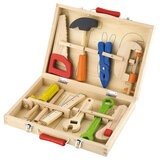 Brain Giggles  Pretend Play Wooden Tool  Box