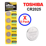 Toshiba CR2025 3V Lithium Coin Cell Battery fIVE Pack of 5 batteries