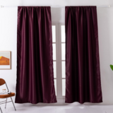 Deals For Less - Window Curtains Maroon Color , Set Of 2 Pieces.