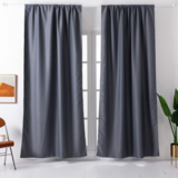 Deals For Less - Window Curtains Grey Color , Set Of 2 Pieces.