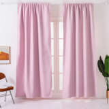 Deals For Less - Window Curtains Pink Color , Set Of 2 Pieces.