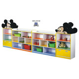 Megastar Wooden  Mickey O Minnie My Own Books & Toys Organiser For Tidy Kids