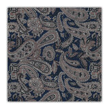 Imperialist Blue & Brown Paisley Pocket Square for Men