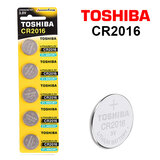 Toshiba CR2016 3V Lithium Coin Cell Battery One Pack of 5 batteries
