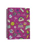 Smily Kiddos  A5 Lined Notebook - Pink