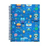 Smily Kiddos  A5 Lined Notebook - Blue