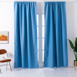 Deals For Less - Window Curtains Blue Color , Set Of 2 Pieces.
